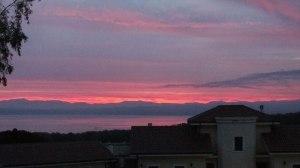 sunrise over Lago Bracciano